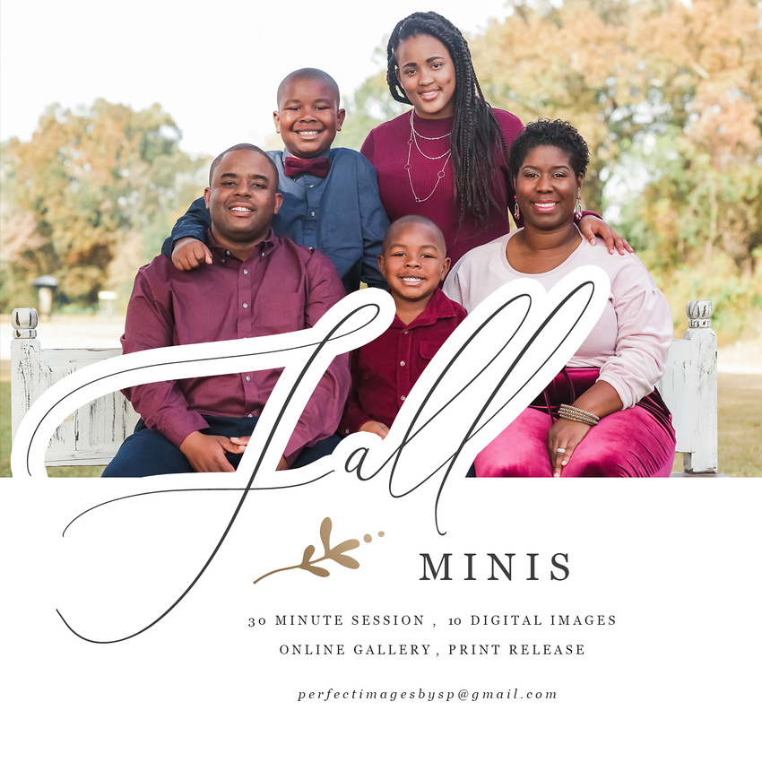 schedule your Fall Mini Session today