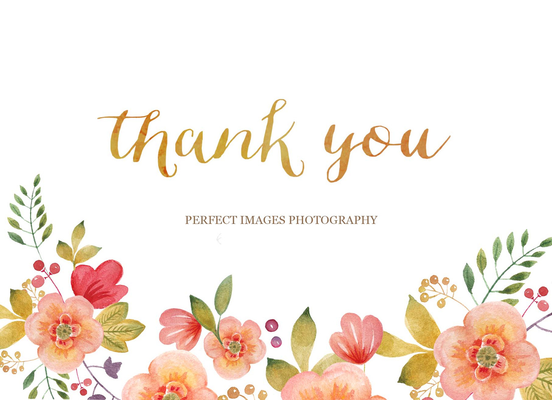 Perfect Images Photography  Thank You Letter To My Clients